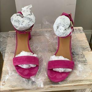 Jcrew magenta sandals